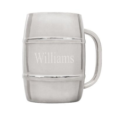 Personalized 33 oz XL Double-Wall Beer Keg Mug 2915