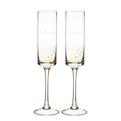 Personalized 2 Piece 8 Oz. Champagne Flute GD3668