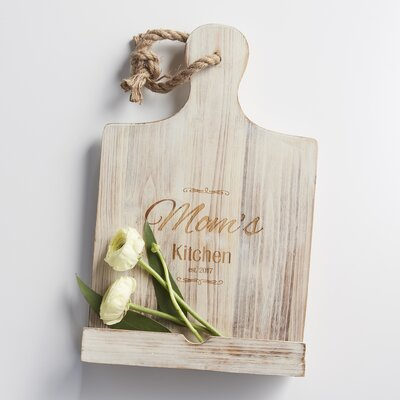 Personalized Mother's Day Wooden IPad & Recipe Stand Finish: White