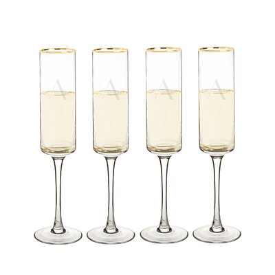 Metz Personalized Rim Contemporary 8 Oz. Champagne Flute LATT7141 38562522