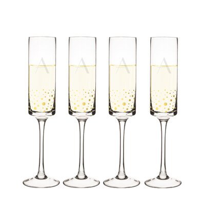 Metz Personalized Dot Contemporary 8 Oz. Champagne Flute LATT7151 38562812