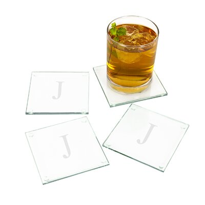 Glass Coasters Letter: J ANDV1116 41751313