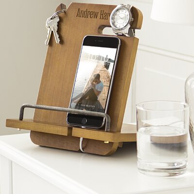 Personalized Wooden Docking Station 4045BR