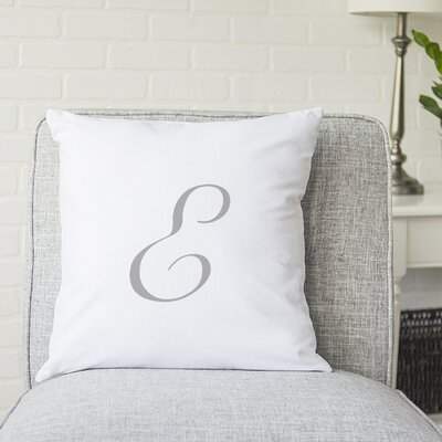 Bradley Personalized Script Initial Throw Pillow Letter: E