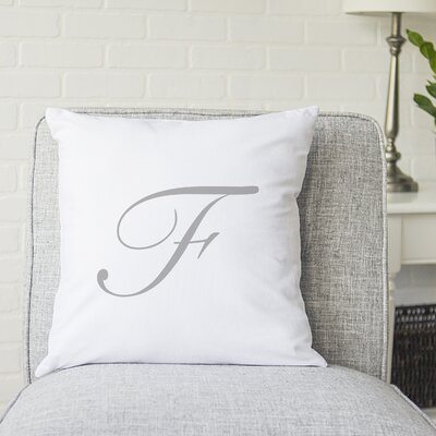 Bradley Personalized Script Initial Throw Pillow Letter: F