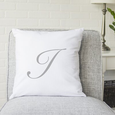 Bradley Personalized Script Initial Throw Pillow Letter: I