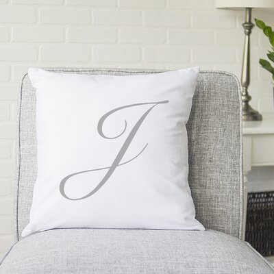 Bradley Personalized Script Initial Throw Pillow Letter: J