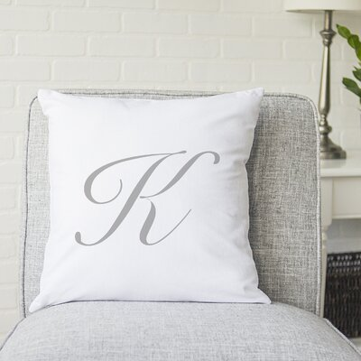 Bradley Personalized Script Initial Throw Pillow Letter: K