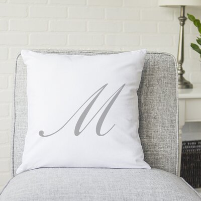 Bradley Personalized Script Initial Throw Pillow Letter: M