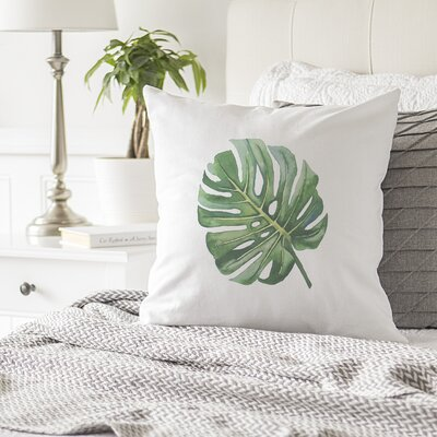 Kasha Palm Leaf Throw Pillow