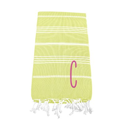 Personalized Beach Towel Letter: C