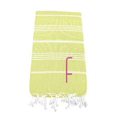 Personalized Beach Towel Letter: F
