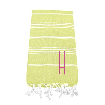 Personalized Beach Towel Letter: H