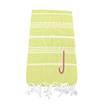 Personalized Beach Towel Letter: J