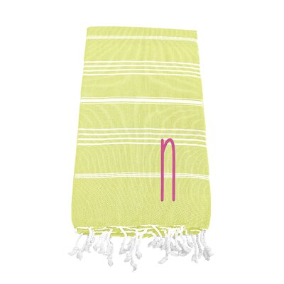 Personalized Beach Towel Letter: N