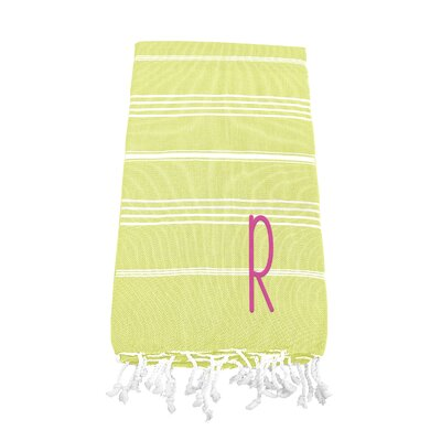 Personalized Beach Towel Letter: R