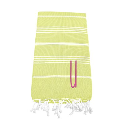 Personalized Beach Towel Letter: U
