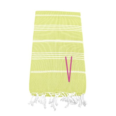 Personalized Beach Towel Letter: V
