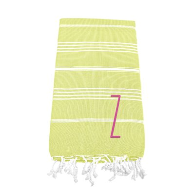 Personalized Beach Towel Letter: Z