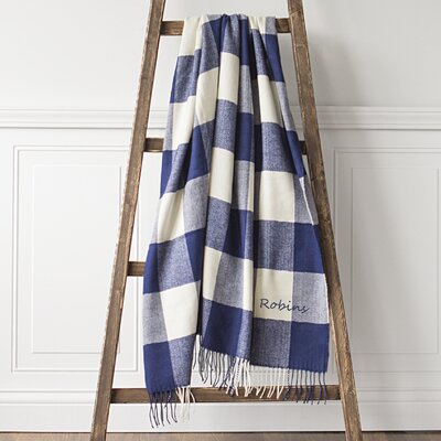 Personalized Buffalo Check Throw Color: Blue