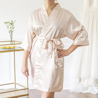 McCook Bride Bathrobe Color: Light Pink, Size: Large
