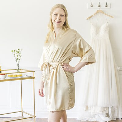 McCook Bride Bathrobe Size: Large, Color: Gold