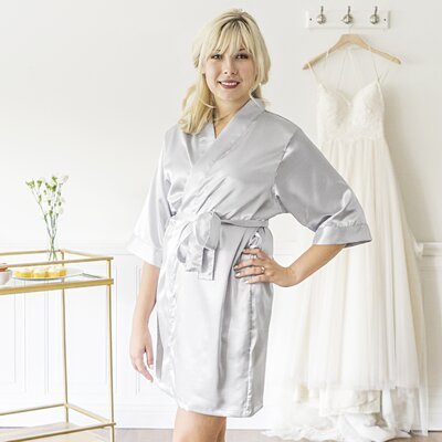 McCook Bride Bathrobe Size: Small, Color: Silver
