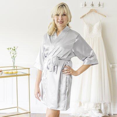 McCook Bride Bathrobe Color: Silver, Size: Small