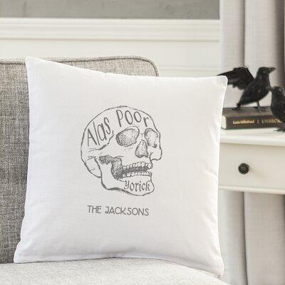 Personalized Alas Poor Yorick Cotton Throw Pillow