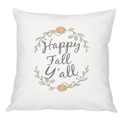 Happy Fall Yall Cotton Throw Pillow