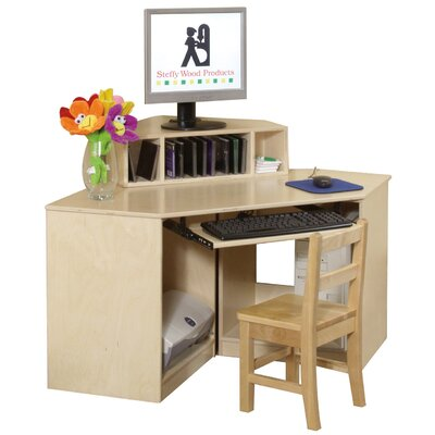 Steffy Corner Computer Table with Keyboard Shelf