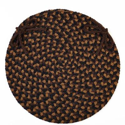 RhodyRug Milnor Chair Pad - Color: Brown Fudge
