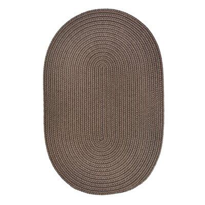 RhodyRug Solid Dark Taupe Indoor/Outdoor Rug - Rug Size: Round 6'