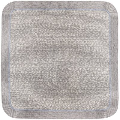 Browdy Braided Silvermist Area Rug Rug Size: Square 6