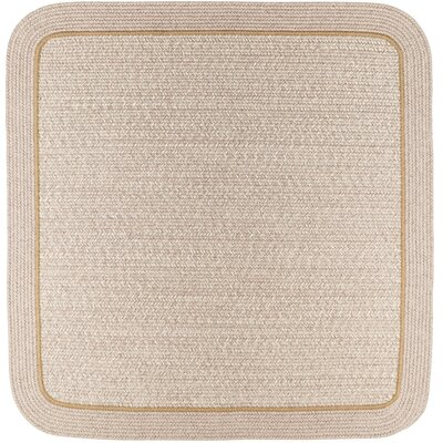 Browdy Banded Sesame Area Rug Rug Size: Square 6