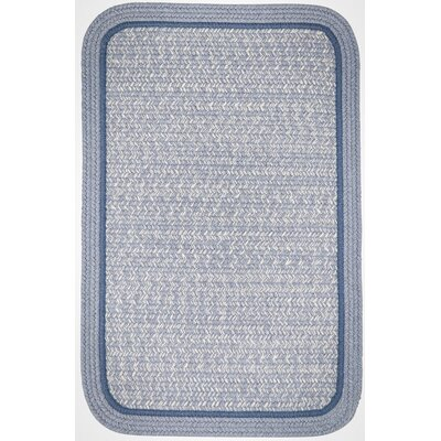 Browdy Banded Sunrise Blue Area Rug Rug Size: Square 4