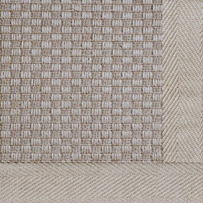 Jute Basketweave Medium Bordered Natural Outdoor Area Rug Rug Size: 2 x 3