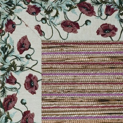 Cheena Heritage Poppies Bordered Area Rug Rug Size: 710 x 10