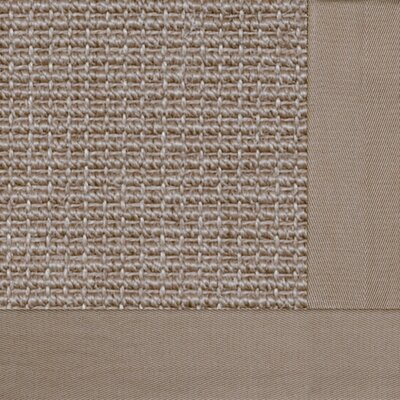 Paradise Retreat Jumbo Boucle Granola Bordered Tan Area Rug Rug Size: 4 x 6