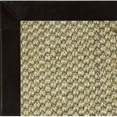 Siskiyou Textured Leather Bordered Area Rug Rug Size: 5 x 8