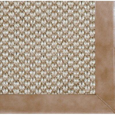 Siskiyou Smooth Leather Bordered Area Rug Rug Size: 5 x 8