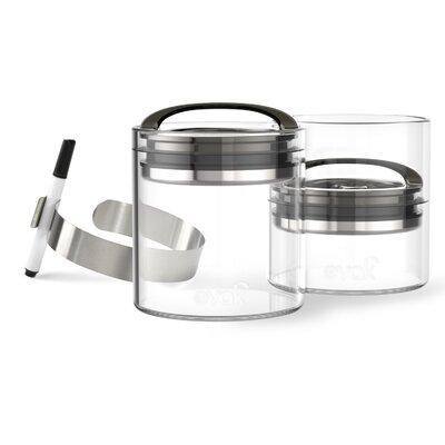 Evak 5-Piece Compact Food Storage Container Set Color: Chrome 3024