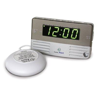 Sonic Boom Bedside/Travel Vibrating Alarm Clock SB200ss