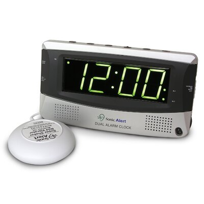 Sonic Boom Dual Alarm Vibrating Clock SBD375ss