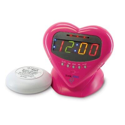 Sonic Boom Sweetheart Vibrating Alarm Clock SBH400ss