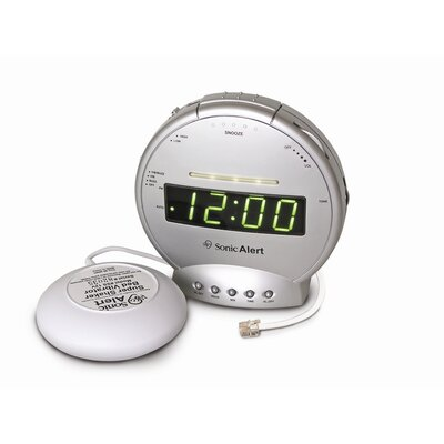 Sonic Boom Vibrating Alarm Clock with Telephone Signaler SBT425ss