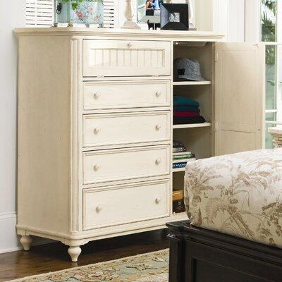 Steel Magnolia 4 Drawer Gentlemans Chest Color: Linen