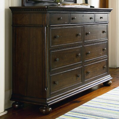 Down Home Aunt Peggys 8 Drawer Dresser Color: Distressed Molasses