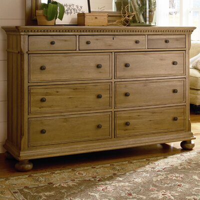 Down Home Aunt Peggys 8 Drawer Dresser Color: Distressed Oatmeal
