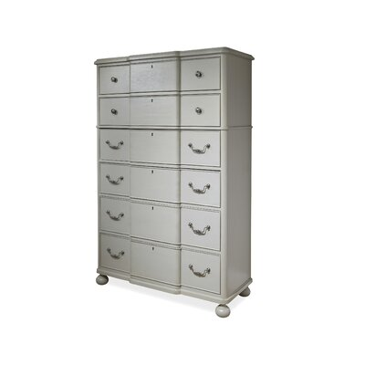 Dogwood 6 Drawer Gentlemans Chest Color: Cobblestone